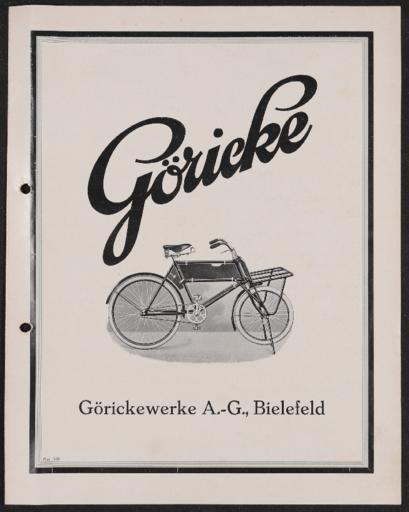 Göricke Geschäftsrad Prospekt 1928