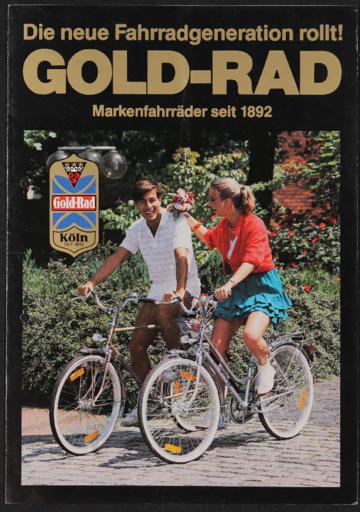 Gold-Rad Markenräder Faltblatt 1980er Jahre