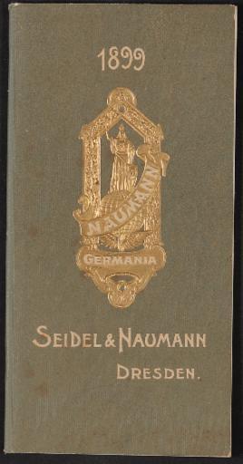 Seidel und Naumann Fahrräder Katalog 1899