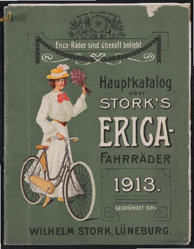 Erica-Fahrräder Stork Hauptkatalog 1913