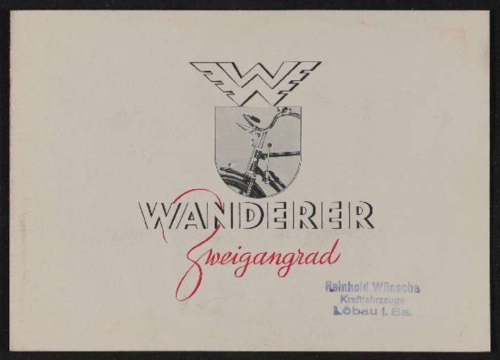 Wanderer 2 Gang Prospekt 1939