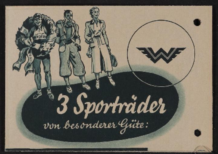 Wanderer Sporträder Faltblatt 1937