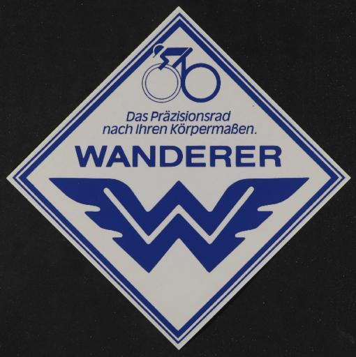 Wanderer Werbe Aufkleber 1980er Jahre